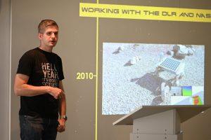 Böhme erzählte die Geschichte seiner privaten Mission zum Mond